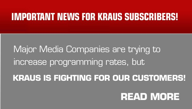 Important message for <br>Kraus customers